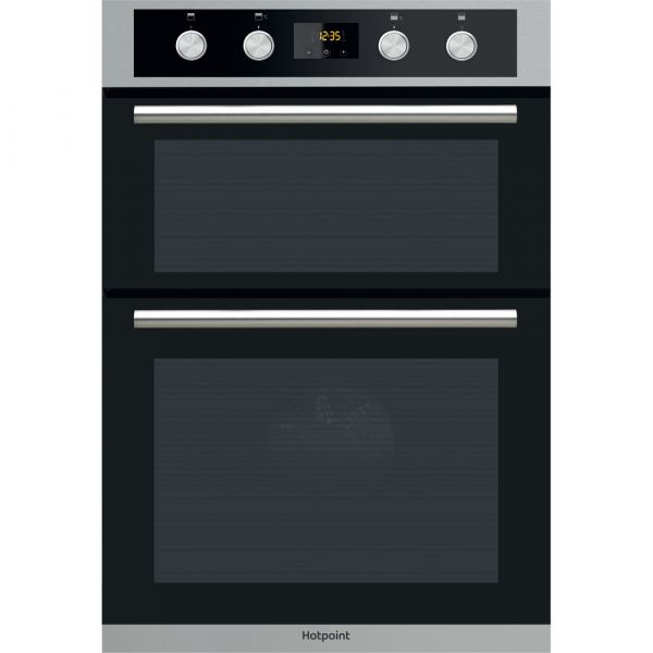 GRADED HOTPOINT Class 2 DD2 844 C IX Electric Double Oven - Stainless Steel & Black