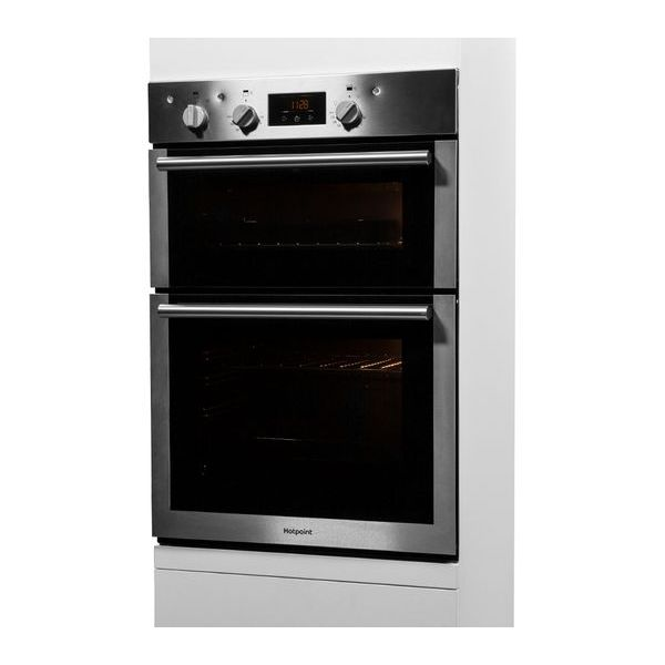 GRADED HOTPOINT DD4541IX Integrated Double Electric Oven - Stainless Steel
