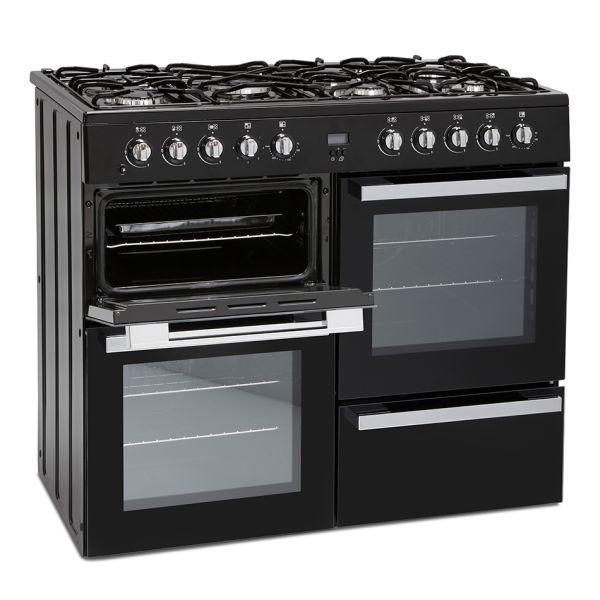 Montpellier MDF100K Freestanding Range Cooker in Black