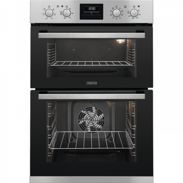 GRADED Zanussi ZOD35802XK Built In Electric Double Oven - Stainless Steel [5440]