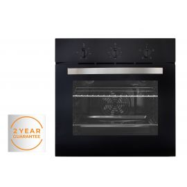 Willow WBI60FB Black Single Electric Fan Oven with Manual Timer