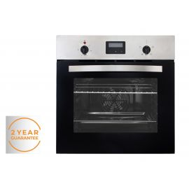 Willow WDBI60FSS Stainless Steel Single Electric Fan Oven with Digital Display and Timer